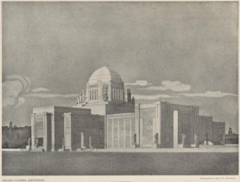 Ontwerp Vredespaleis, Den Haag, 1906