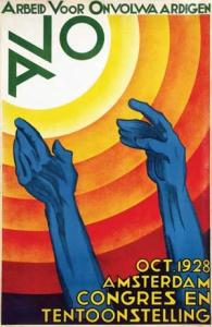 Affiche congres en tentoonstelling Arbeid voor Onvolwaardigen