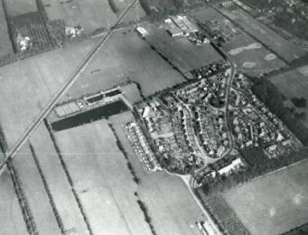 De nieuwe wijk Tuindorp in Bilthoven, gemeente De Bilt, met in het zuidoosten de Konijnenstraat
