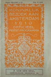 Feestprogramma Julianafeesten 26 mei - 2 juni 1910