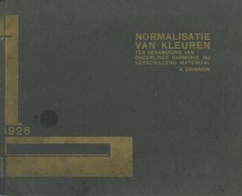Omslag gastenboek bijeenkomst 'Normalisatie van kleuren', 26 maart 1926