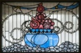 Glas in lood, bovenlicht portaal, De Lairessestraat 39, Amsterdam