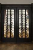 Interieur, tussendeur met glas-in-lood, De Lairessestraat 39, Amsterdam