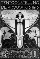Affiche Tentoonstelling De Vrouw 1813-1913