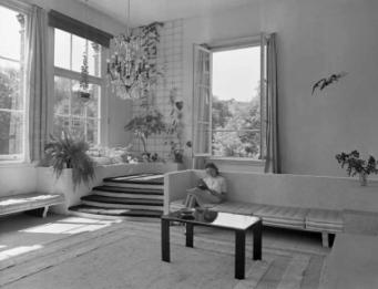 Interieur woonhuis Molenpad met Joop Grimmon-Van Dijk