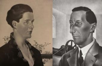 Portretten van Anna Grimmon-Lauff en Piet Grimmon