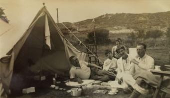 Camping in Groet, 1934