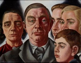 John Rädecker met vrouw en kinderen