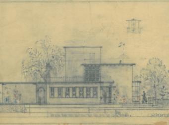 Werkplaats in de tuin van het A.C. Wertheimhuis